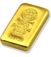 Золотой слиток 250 грамм 9999 Fine Gold Argor-Heraeus