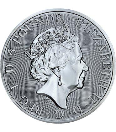 Срібна монета 1oz Прямокутний Дракон 1 долар 2018 Австралія