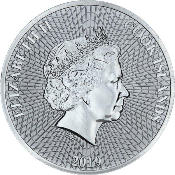 Серебряная монета 1oz Британия 2 английских фунта 2019 Британия