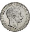 Серебряная монета Вильгельм II 3 марки 1908-1912 Пруссия Германская Империя
