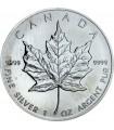 Серебряная монета 1oz Кленовый лист 5 долларов 1989 Канада
