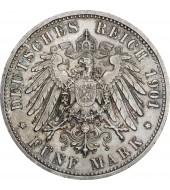 Серебряная монета 1oz Счастливого Рождества 1 доллар 2019 Австралия (цветная)
