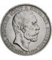 """Серебряная монета """"Шварцбург-Зондерхаузен"""" 3 марки 1909 Германская империя"""