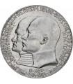 """Серебряная монета """"400 лет с рождения Филиппа"""" 2 марки 1904 Гессен Германская империя"""
