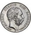 """Серебряная монета """"День смерти короля Альберта"""" 2 марки 1902 Саксония Германская империя"""