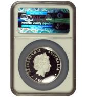 Серебряная монета 1/2oz Год Мыши (Крысы) 50 центов 2020 Тувалу (цветная)