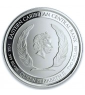 Серебряная монета 1oz Сент-Люсия 2 доллара 2019 Сент-Люсия