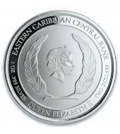Срібна монета 1oz Сент-Люсія 2 долара 2019 Сент-Люсія