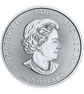 Серебряная монета 2oz Кракен 10 долларов 2020 Канада