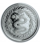 Срібна монета 1oz Змій Мілана 2 тала 2020 Самоа