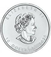 Срібна монета 2oz Канадський Гусь 10 доларів 2020 Канада