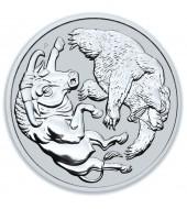 Срібна монета 1oz Бик і Ведмідь 1 долар 2020 Австралія