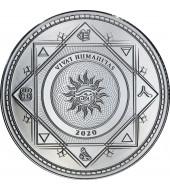"""Срібна монета 1oz Хай Живе Людство """"Vivat Humanitas"""" 5 доларів 2020 Токелау"""