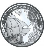 Срібна монета 1oz Індевор 1770-2020 1 долар 2020 Австралія