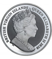 """Срібна монета 1oz Вітрильник """"Мейфлауер"""" 1 долар 2020 БВО"""