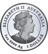 Серебряная монета 1oz Год Мыши (Крысы) 1 доллар 2020 Австралия