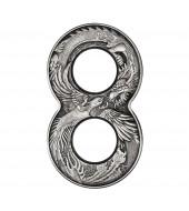 Серебряная монета 2oz Дракон и Феникс 2 доллара 2020 Австралия