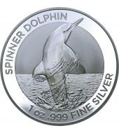 Серебряная монета 1oz Дельфин 1 доллар 2020 Австралия