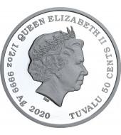 Срібна монета 1/2oz Завжди Разом 50 центів 2020 Тувалу (кольорова)