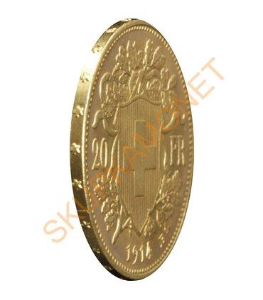 Золотая монета 10 рублей 1899 г. (Советский оттиск) Николай 2 Россия