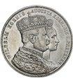 "Серебряная монета ""Коронация Вильгельма I и королевы Августы"" 1 талер 1861 Пруссия"