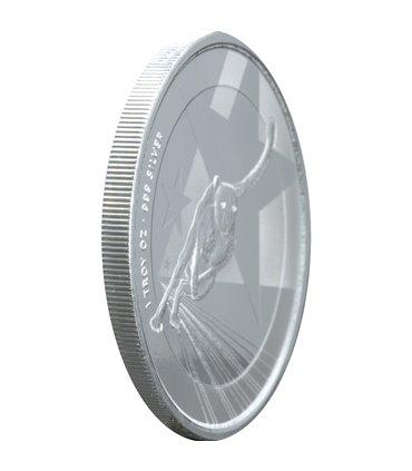 Серебряная монета Год Козы 5 гривен 2015 Украина