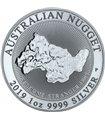 Серебряная монета 1oz Австралийский Самородок 1 доллар 2019 Австралия