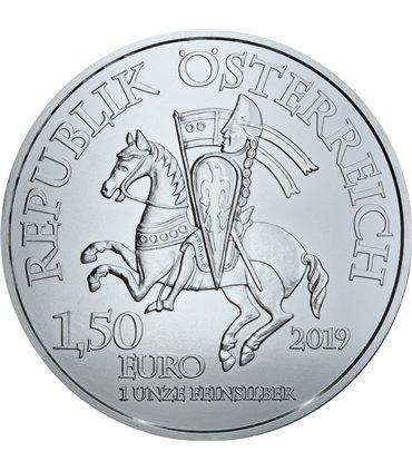 Золотая монета Святой Георгий и дракон 5 фунтов 1984 Великобритания