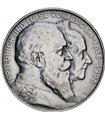 Серебряная монета 2 марки 1906 Баден Германская Империя