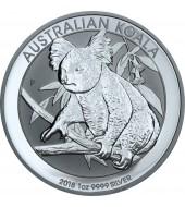 Срібна монета 1oz Коала 1 долар 2018 Австралія