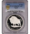 Серебряная монета 1oz Зубр 10 гривен 2003 Украина (PCGS PR69DCAM)
