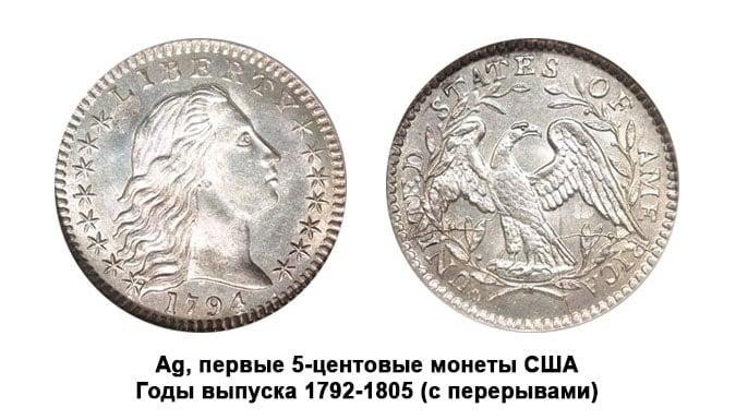 Выкуп серебряных монет США номиналом 5 центов быстро и безопасно осуществляет компания Скупка монет