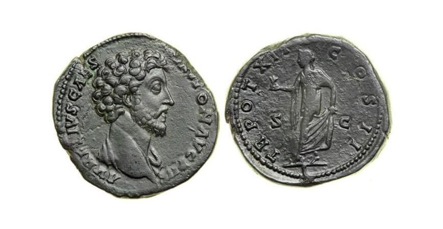 Древняя монета Рима секстанс