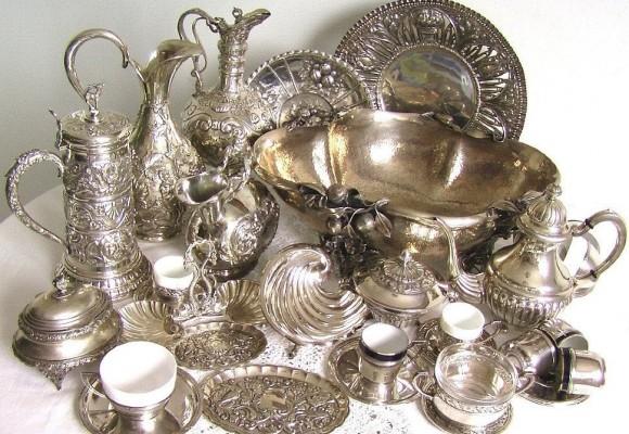 Антикварное серебро и коллекционная посуда
