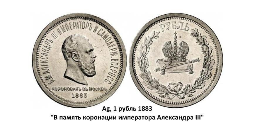 Серебряные монеты Александра III (1881-1894)