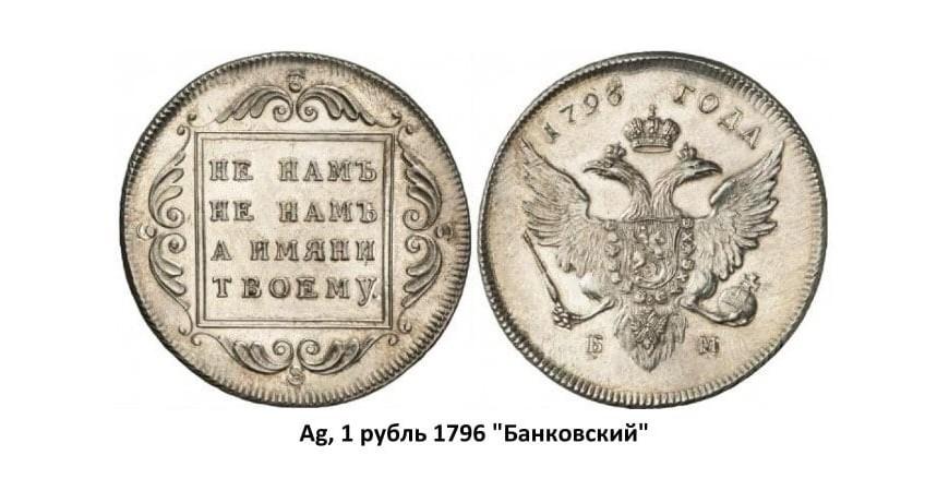 Срібні монети Павла I (1796-1801)