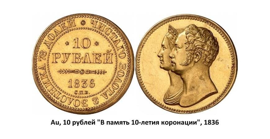 Золотые монеты Николая I (1826-1855)