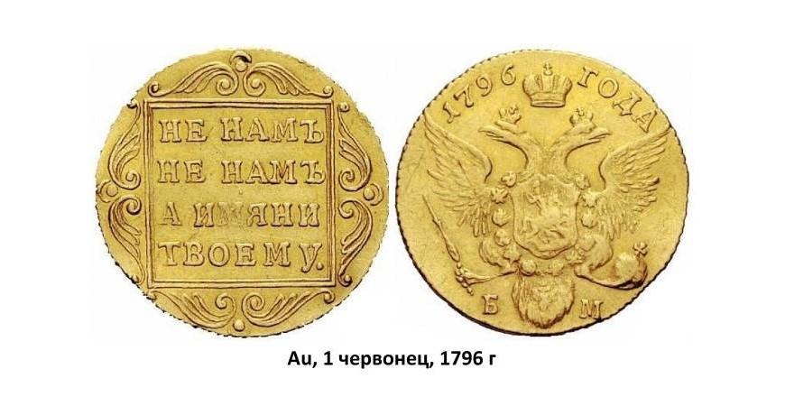 Золотые монеты Павла I (1796-1801)