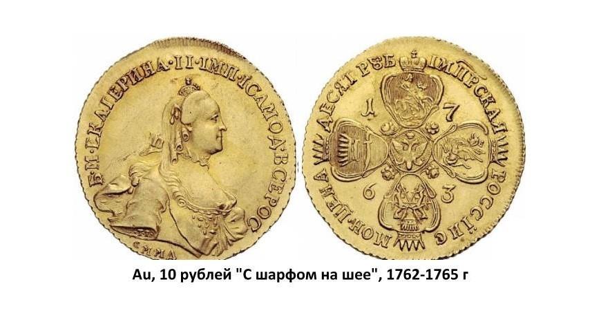Золотые монеты Екатерины II (1762-1796)