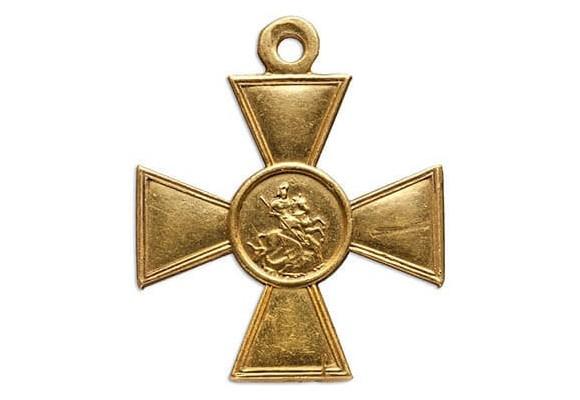 Георгиевский крест из золота (царская Россия)