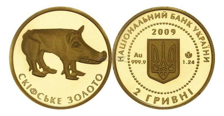 """Монета """"Скифское золото"""" номиналом 2грн 2005 года чеканки: особенности продажи в Украине"""