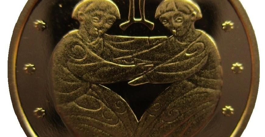 Монета Близнецы номиналом 2грн 2006 года чеканки: художественное оформление, цена