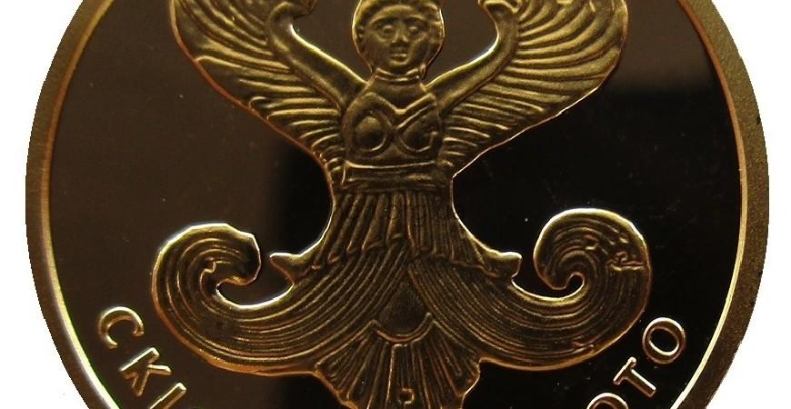 """Монета """"Скифское золото (богиня Апи)"""" номиналом 2грн: особенности оформления"""