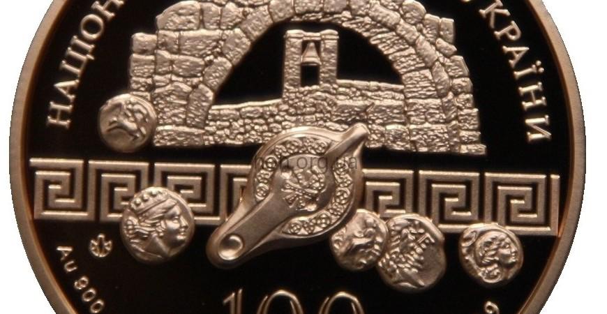 Ціна монети Херсонес Таврійський номіналом 100 грн 2009 року карбування