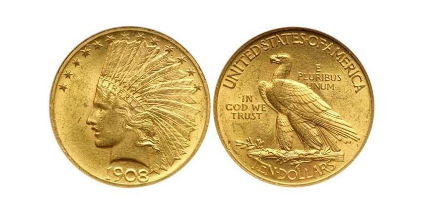 Монета 10 американських доларів